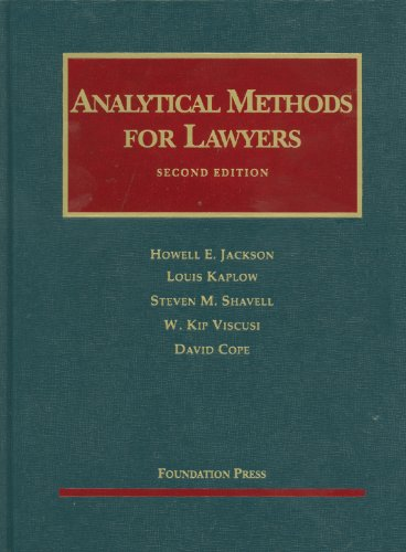 Analytical Methods for Lawyers 9781599419213