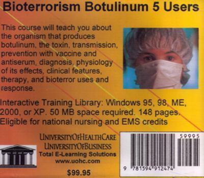 Bioterrorism Botulinum, 5 Users 9781594912474