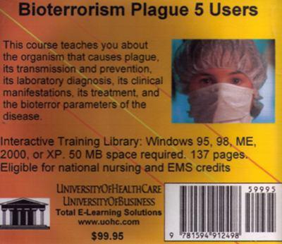 Bioterrorism Plague, 5 Users 9781594912498