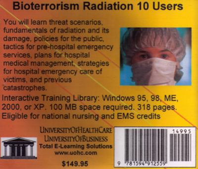 Bioterrorism Radiation, 10 Users 9781594912559