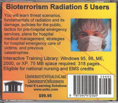 Bioterrorism Radiation, 5 Users 9781594912504