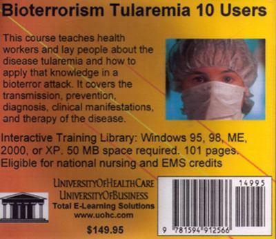 Bioterrorism Tularemia, 10 Users 9781594912566