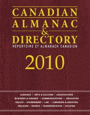 Canadian Almanac & Directory 9781592374397