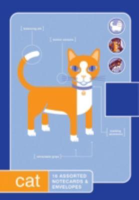 Cat: 16 Assorted Notecards & Envelopes