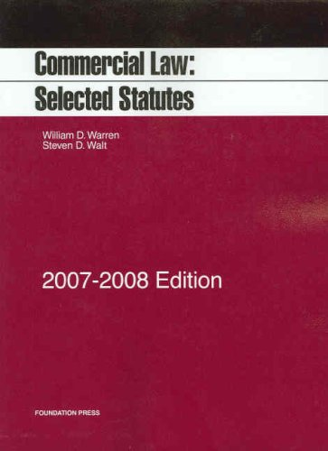 Commercial Law: Selected Statutes 9781599412979