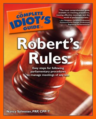 Complete Idiot's Guide to Robert's Rules 9781592571635