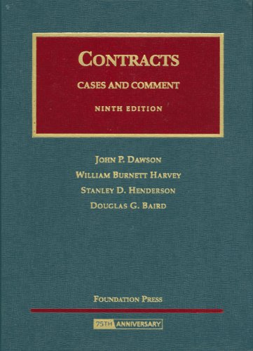 Contracts: Cases and Comment 9781599411507