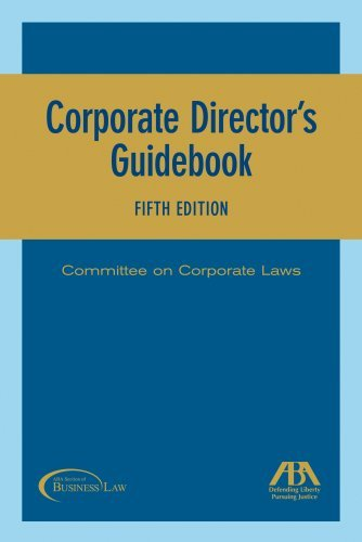 Corporate Director's Guidebook 9781590318508