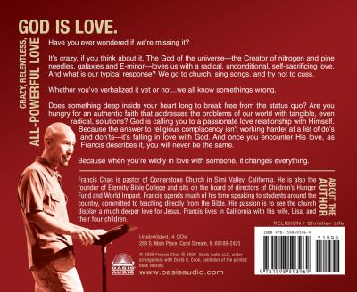 Crazy Love: Overwhelmed by a Relentless God 9781598593969