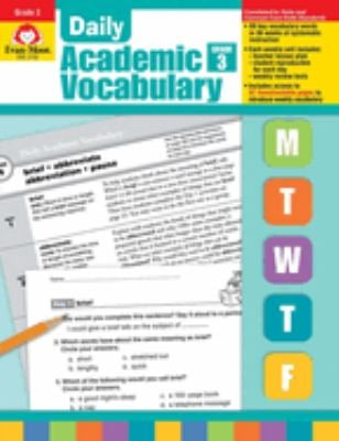 Daily Academic Vocabulary Grade 3 [With Transparencies] 9781596732025