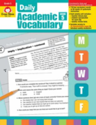 Daily Academic Vocabulary Grade 5 [With Transparencies] 9781596732049