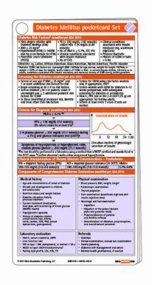 Diabetes Mellitus Pocketcard 2011 9781591034469