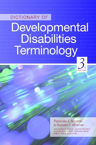 Dictionary of Developmental Disabilities Terminology 9781598570700