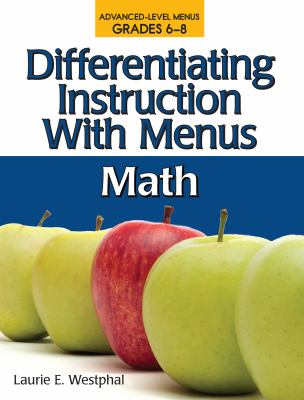 Differentiating Instruction with Menus: Middle School Math 9781593633677