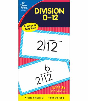 Division 0-12 Flash Cards, Ages 8 and Up 9781594410109