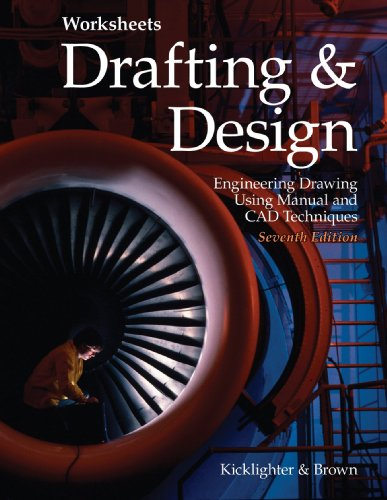 Drafting & Design Worksheets: Engineering Drawing Using Manual and CAD Techniques 9781590709047