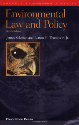 Environmental Law and Policy 9781599410883