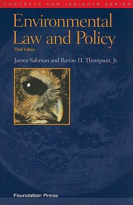 Environmental Law and Policy 9781599417714