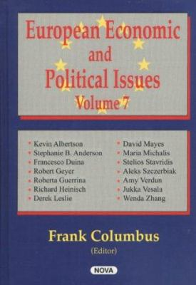 European Economic and Political Issues 9781590335819