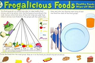 Frogalicious Foods: Healthy Foods Wipe-Off Mat! 9781595450913