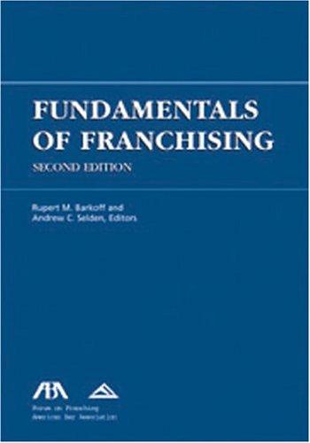 Fundamentals of Franchising 9781590314098