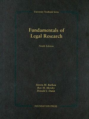 Fundamentals of Legal Research 9781599412184