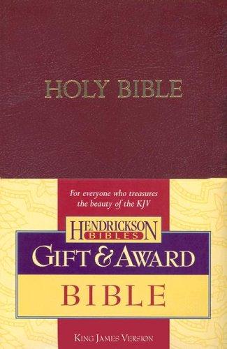 Gift & Award Bible-KJV 9781598560220