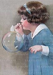 Girl Bubble Blower - Greeting Card (6 Cards Individually Bagged W/ Envelopes & Header) 16796043