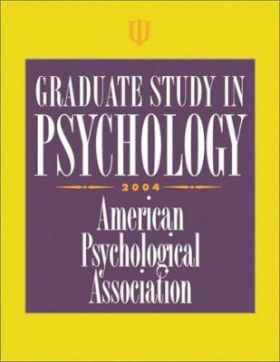 Graduate Study in Psychology 9781591470571