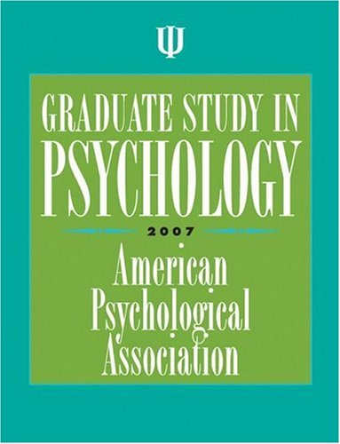 Graduate Study in Psychology 9781591474234
