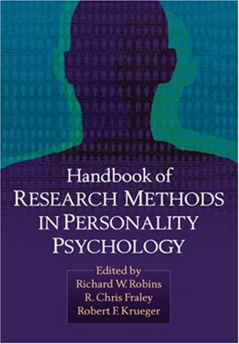 Handbook of Research Methods in Personality Psychology 9781593851118