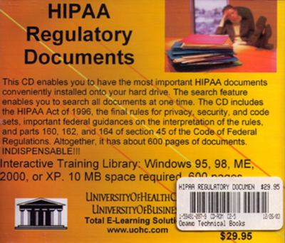 Hipaa Regulatory Documents 9781594910975