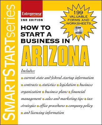 How to Start a Business in Arizona [With CDROM] 9781599180939