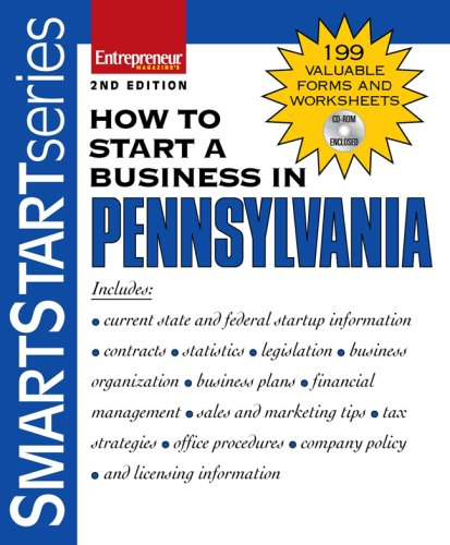 How to Start a Business in Pennsylvania [With CDROM] 9781599180915