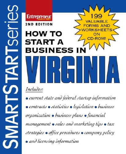 How to Start a Business in Virginia [With 199 Valuable Forms & Worksheets on CDROM] 9781599180670