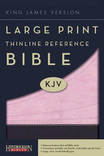 Large Print Thinline Reference Bible-KJV 9781598568615