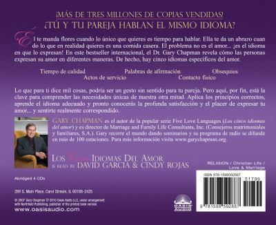 Los Cinco Idiomas del Amor: Como Expresar un Verdadero Compromiso A Tu Pareja 9781598592887