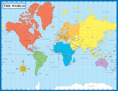 Map of the World Chart 9781594418792