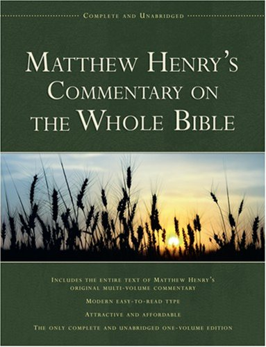 Matthew Henry Complete Bible Commentary Online