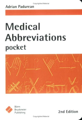 Medical Abbreviations: Pocket 9781591032212