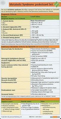 Metabolic Syndrome Pocketcard Set 9781591030652