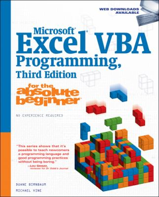 Microsoft Excel VBA Programming for the Absolute Beginner 9781598633948