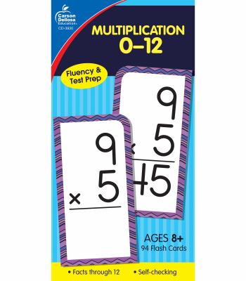 Multiplication 0-12 Flash Cards, Ages 8 and Up 9781594410116