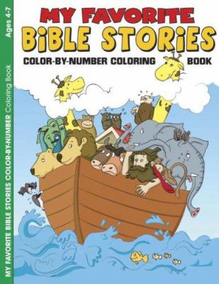 My Favorite Bible Stories 6pk: Color by Number Activity Book 9781593172084