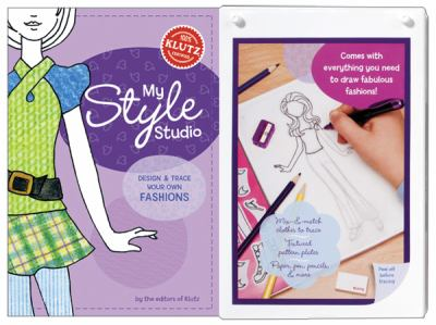 My Style Studio: Design & Trace Your Own Fashions [With Textured Coloring Plates in 8 Great Patterns and 8 Colored Pencils, Sketching Pencil and Arti 9781591745679