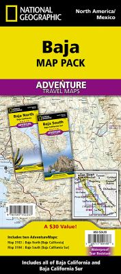 Baja Map Pack: National Geographic Adventure Maps