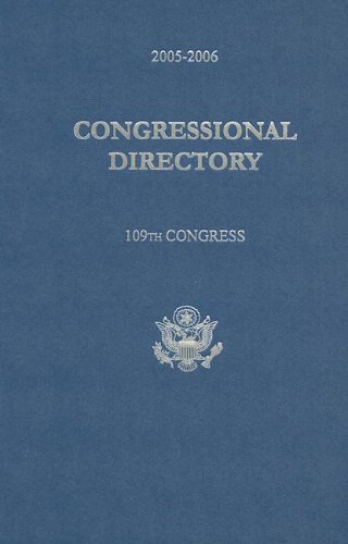Official Congressional Directory, 109th Congress 9781598040227