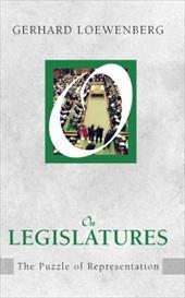 On Legislatures: The Puzzle of Representation 10020496