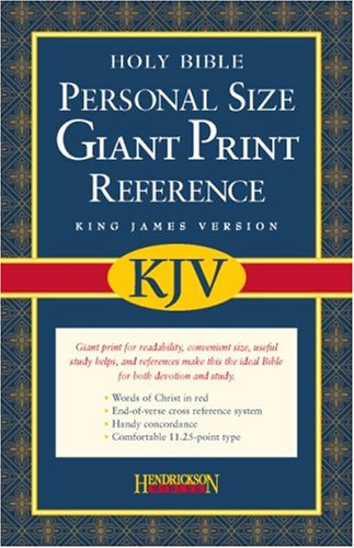 Personal Size Giant Print Reference Bible-KJV 9781598560947