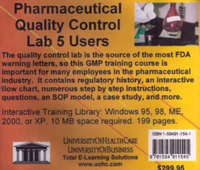 Pharmaceutical Quality Control Lab, 5 Users 9781594911545